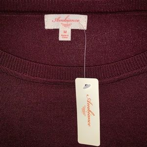 Ambiance Tops - Ambiance L/S crop top sweater sz M! new!